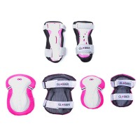 Комплект защиты Globber JUNIOR PROTECTIVE SET, XS (Розовый)